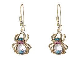 betsey johnson spider lux spider drop earrings lyst