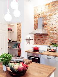 incorporating exposed bricks in stylish designs around the house