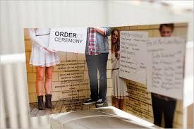 Wedding Program Board 30 Wedding Program Design Ideas To Guide Your Party Guest