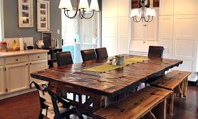 Kitchen Table With Cabinets by Warm Kitchen With Rectangular Wood Dining Table Webbo Media