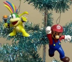 mario brothers set of 8 tree ornaments