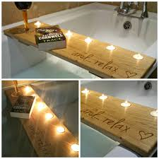 oak bath caddy pinteres