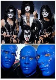 Blue Man Halloween Costume Paintertainment Dramatic Celebrity Face Paint Ideas Halloween