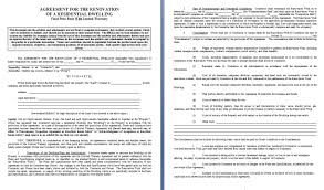 renovation contract contract agreements formats u0026 examples
