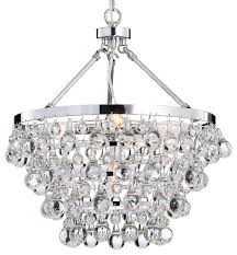 Modern Contemporary Pendant Lighting Crystal Glass 5 Light Luxury Chandelier Chrome Contemporary