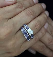 wedding band set wum inlay wedding band set with oval zircon