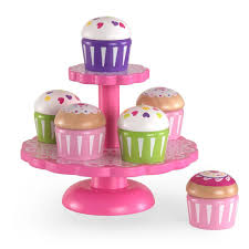 kidkraft cupcake stand with cupcakes playset 63172 the home depot