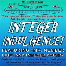 integers unit subtracting adding dividing multiplying word