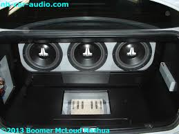 custom bmw 3 series bmw 3 series custom stereo trunk boomer nashua mobile electronics