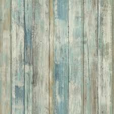 roommates 28 18 sq ft blue distressed wood peel and stick wall