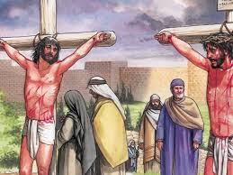 free bible images while on the cross jesus is mocked and one of