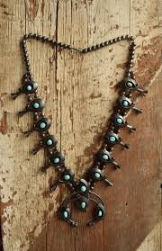 vintage turquoise silver necklace images Turquoise squash blossom vintage necklace native american squash jpg