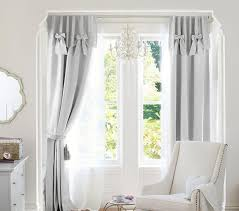evelyn linen blend bow valance blackout curtain pottery barn kids