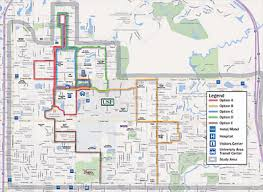 map usf mpo proposes usf area circulator options plan hillsborough