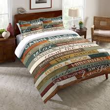 Bed Bath Return Policy Laural Home Rules Of The Cabin Comforter Free Shipping Today