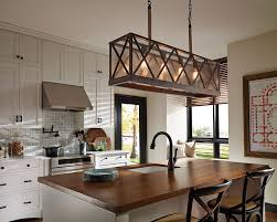 Farmhouse Island Lighting by Decorating Linear Pendant Lighting Linear Strand Crystal