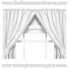 Vinyl Bathroom Windows Carnation Home Fashions Vinyl Bathroom Window Curtain White Ebay
