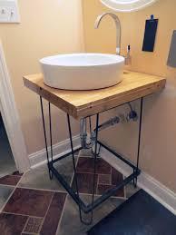 diy bathroom vanity ideas bathrooms diy black iron bathroom vanity with sink also