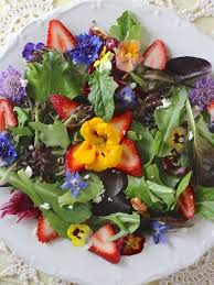 Salad With Edible Flowers - we call these show off herbal canapés they u0027re fun to make and