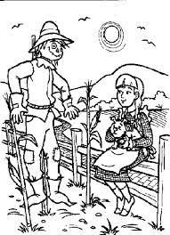 dorothy talking scarecrow wizard oz coloring