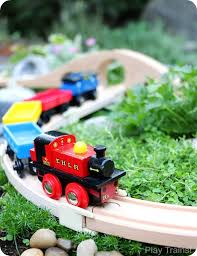 Make Wooden Toy Train Track by Diy Outdoor Train Table A Wooden Train Garden Railway Play Trains