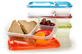 amazon com easylunchboxes 3 compartment bento lunch box