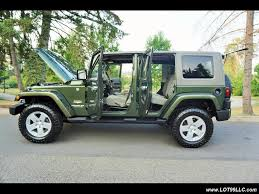 jeep sahara green 2007 jeep wrangler unlimited sahara 6 speed manual hard top for