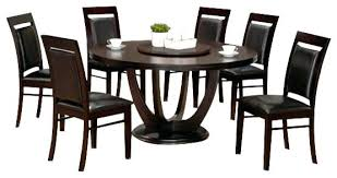 wood rectangular dining table 7 piece round dining set 7 piece collection round espresso finish