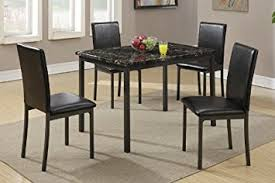 black marble dining table set amazon com dining table with black marble finished top and 4
