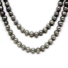 silver necklace with pearls images Black pearls archives timeless pearl jpg