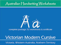 handwriting practice worksheets victorian modern cursive for vic