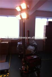portable lighting tower with diesel generator explosion proof