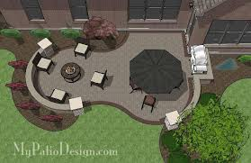 My Patio Design Curvy Brick Patio Design With Seat Wall Downloadable Plan
