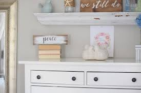 Changing Table Shelves by Painting With Milk Paint Gratefully Vintage