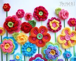 Crochet Designs Flowers Crochet Pattern Floral Fantasy 5 Colorful Crochet Flower