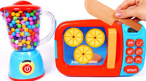 Appliance Colors Learn Fruits Vegetables And Colors With Kitchen Toy Appliance