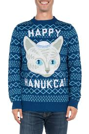 hanukkah sweater s hanucat hanukkah sweater tipsy elves