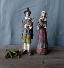 thanksgiving pilgrim figurines 10 inch resin thanksgiving fall décor figurines ebay