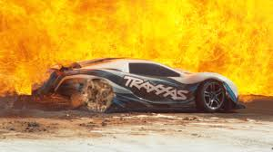 100mph rc car destruction in slow motion