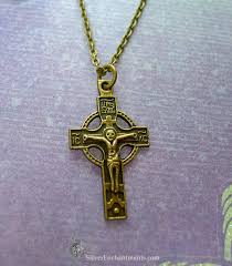 crucifix pendant necklace images Bronze orthodox cross necklace double sided crucifix necklace jpg