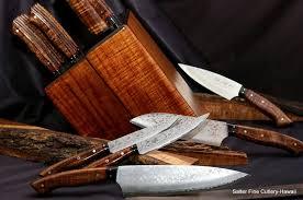 Fine Kitchen Knives by Salter Fine Cutlery Salter Fine Cutlery Handcrafted Custom Koa