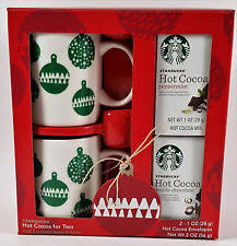 hot cocoa gift set starbucks hot cocoa and mugs for two boxed gift set ebay