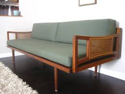 mid century modern sofa love the caning detail of the arms