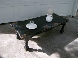 table distressed black coffee table dubsquad