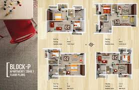 Apartment Block Floor Plans Vhridhaa Apartment Plan Block P Sree Daksha Property Developers