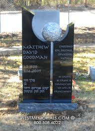 unique headstones goodman white sphere modern design headstone in granite