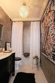 Wallpaper In Bathroom Ideas by Best 20 Tall Shower Curtains Ideas On Pinterest Blue Bathrooms