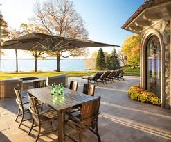 Outdoor Pub Style Patio Furniture Castle Style Homes Exterior Traditional With Wicker Patio