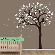 popular room owls trees wall stickers buy cheap room owls trees owl hoot star tree wall stickers vinyl decal kids nursery baby room decor art huge tree