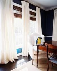 Blinds And Curtains Like How The Curtains Are Placed Higher Than The Windows And